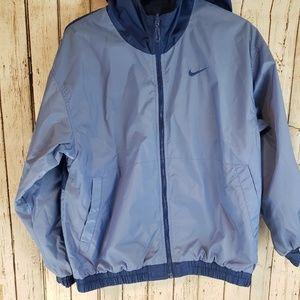 Nike baby blue hooded reversible wind breaker